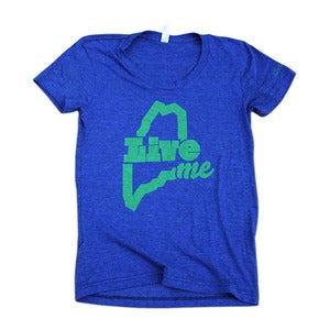 Image of LiveME T-Shirt (Womens - Indigo)