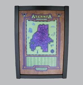 Image of atlanta map - framed