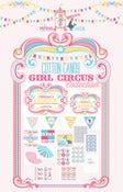 Image of Cotton Candy Girl Circus printable Collection