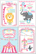 Image of Coordinating printable Circus/ Carnival poster- Cotton Candy Girl Circus Collection