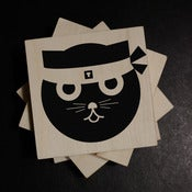 Image of Kung Fu Watson the Cat | Wood Coasters