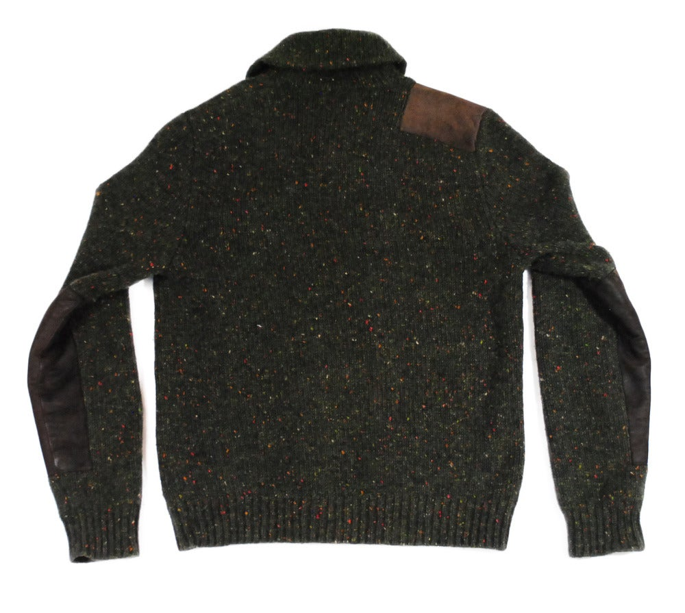 greater goods co polo ralph lauren shawl neck sweater pullover. Black Bedroom Furniture Sets. Home Design Ideas