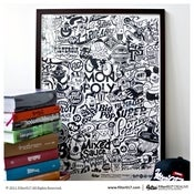 Image of Filter017 Razzle Dazzle Classic 2011 SCREEN PRINTING POSTER - B&W