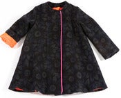 Image of esme coat-wool floral