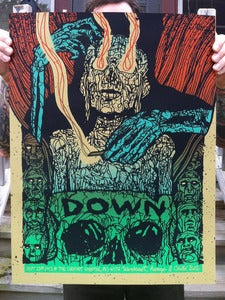 Image of Down - Screenprinted Poster