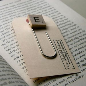 Image of Personalized Scrabble Bookmark