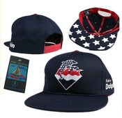 Image of NEW! Pink Dolphin Olympic Waves Snapback Hat Collection