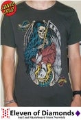 Image of Santa Cruz T-Shirt Vintage Black Slim Fit Good v Evil