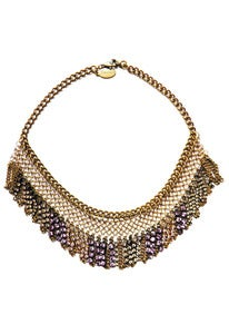 Image of Lilac ombre chainmaille and crystal mini-fringe necklace + colors