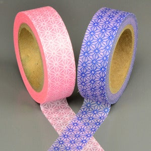 Image of Blue + Pink Fractured Star Washi Tape