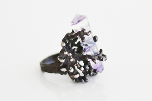 Image of Coral Crystal Ring 