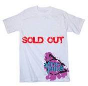 Image of Afro-Punk Tee 2, White w/ Pink & Blue Logo