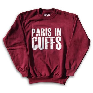 Image of Paris in Cuffs - Logo Sweatshirt - Burgundy