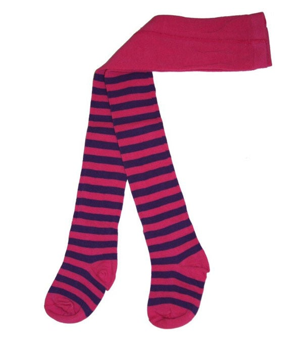 Image of Juliet Tights - Cerise &amp; Purple Stripes