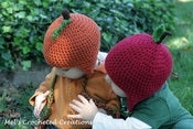 Image of Apple or Pumpkin earflap hat