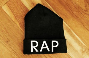 "Image of ""RAP"" Beanie by PERRYANDPRINTUP"