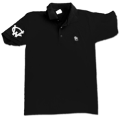 Image of 'Dog Poo' Polo Shirt (Black)