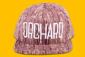 Image of Orchard Brand  Woodgrain Sherman Text Snapback