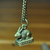 Image of Brass Bunny Pendant