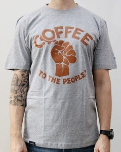 Image of Coffee To The People Tee grey