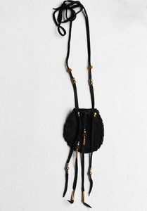 Image of Black Leather Medicine Bag