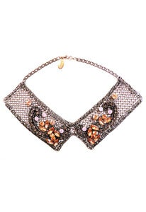 Image of Mosaic chainmaille, crystal, applique collar