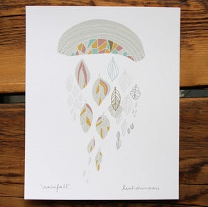 Image of Rainfall Stitched Print