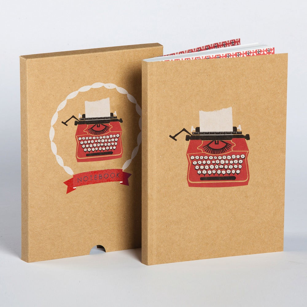Image of Typewriter Boxed Blank Notebook