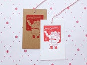 Image of Letterpress Gift Tags, Santa set of 8