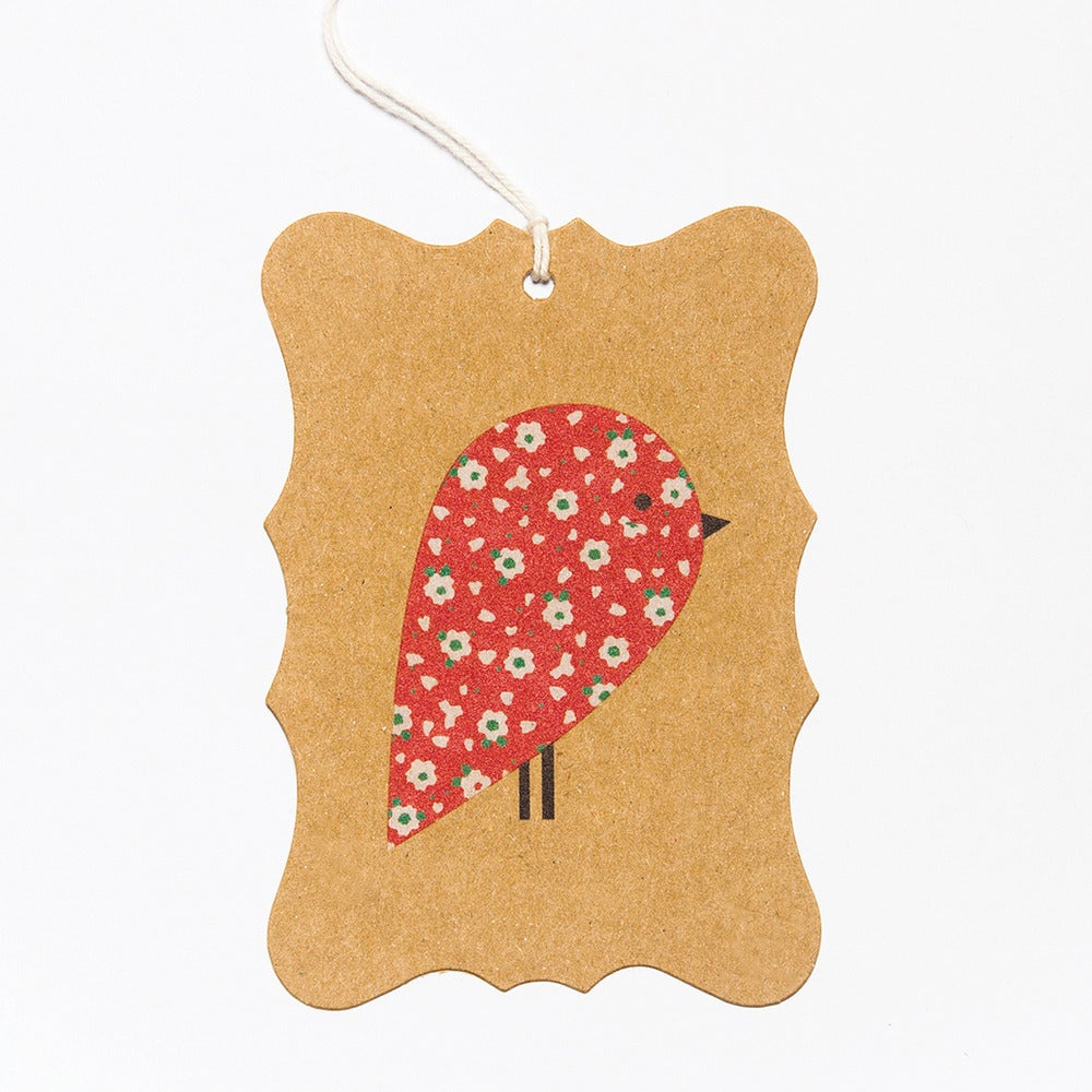 Image of 6 Red Robin Gift Tags