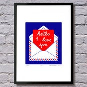 Image of Hello limited edition print  A3 (more colours...)