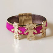 Image of PULSERA PIEL DE POTRO ROSA