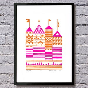 Image of Tiny Towers limited edition print A3 (more colours...)