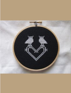 Image of Mini Owl Love You Always Cross-Stitch Do-It-Yourself Kit