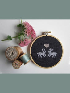 Image of Some Bunny To Love Cross-Stitch Do-It-Yourself Kit by Chez-Sucre-Chez