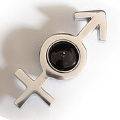 Image of Gender Symbol Tealight Holder - Male & Female