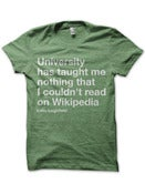 Image of Luke Leighfield | University T-shirt (green)