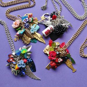 Image of Lucky Dip Plectrum Cluster Charm Necklace