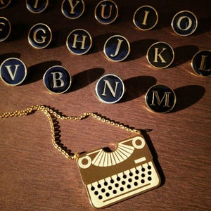 Image of Typewriter Series (necklace &amp; brooch)