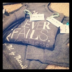 Image of Love Never Fails Sweatshirt