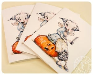 Image of Crinoline Fairy &amp; Jack o' Lantern by the Filigree