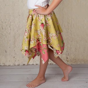 Image of Pixie Hem Skirt Pattern for Girls 2 to 8