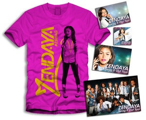 Image of Zendaya Gold Sticker Package Pink