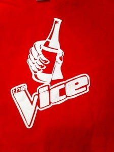 Image of THE VICE FUNNY PARODY OF THE VOICE BEER T-SHIRT