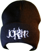 Image of The Jokerr Beanie - White on Black (FOLD UP)