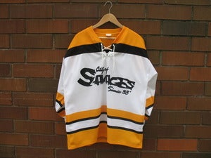 Image of City of Savages Hockey Jersey (White/Gold/Black)