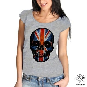 Image of T-shirt Hell Yeah Thug Life UK Skull by Dadawan