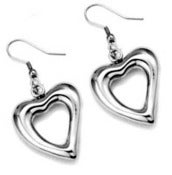 Image of Heart Stainless Steel Earrings