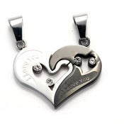 Image of Heart Pendant Stainless Steel