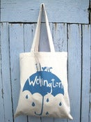 Image of I Love Wellington tote bag Blue